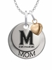 Maryland Terrapins MOM Necklace with Heart Charm