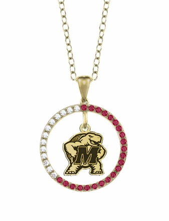 Maryland Terrapins Ruby and Diamond Necklace