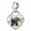 Memphis Engraved Heart Dangle Charm