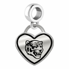 Memphis Tigers Border Heart Dangle Charm