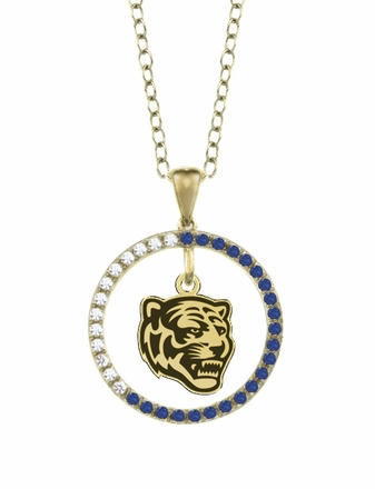Memphis Tigers Sapphire and Diamond Necklace