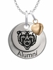 Mercer Bears Alumni Necklace with Heart Accent