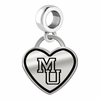 Mercer Bears Border Heart Dangle Charm