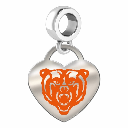 Mercer Bears Color Heart Dangle