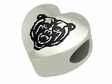 Mercer Bears Heart Shape Bead