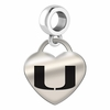 Miami FL Engraved Heart Dangle Charm