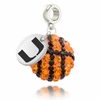 Miami Hurricanes Crystal Drop Charm
