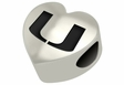 Miami Hurricanes Heart Shape Bead