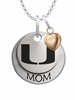Miami Hurricanes MOM Necklace with Heart Charm
