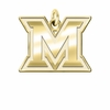 Miami OH Redhawks 14K Yellow Gold Natural Finish Cut Out Logo Charm