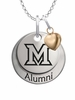 Miami OH Redhawks Alumni Necklace with Heart Accent