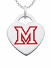 Miami OH RedHawks Color Logo Heart Charm