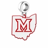 Miami OH Redhawks Logo Dangle Charm