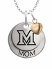 Miami OH Redhawks MOM Necklace with Heart Charm