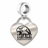 Miami Ohio Engraved Heart Dangle Charm