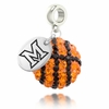 Miami Redhawks Crystal Drop Charm
