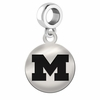 Michigan Round Dangle Charm