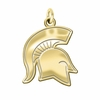 Michigan State Spartans 14K Yellow Gold Natural Finish Cut Out Logo Charm