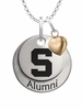 Michigan State Spartans Alumni Necklace with Heart Accent
