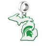 Michigan State Spartans Logo Dangle Charm