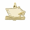 Michigan Tech Huskies 14K Yellow Gold Natural Finish Cut Out Logo Charm