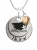 Michigan Tech Huskies Alumni Necklace with Heart Accent