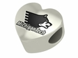 Michigan Tech Huskies Heart Shape Bead