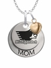 Michigan Tech Huskies MOM Necklace with Heart Charm