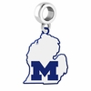Michigan Wolverines Logo Dangle Charm