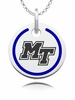 Middle Tennesse State Blue Raiders Round Enamel Charm