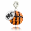 Middle Tennessee Blue Raiders Crystal Drop Charm