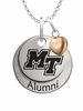 Middle Tennessee State Blue Raiders Alumni Necklace with Heart Accent