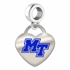 Middle Tennessee State Blue Raiders Color Heart Dangle