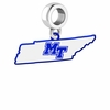 Middle Tennessee State Blue Raiders Logo Dangle Charm