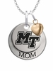 Middle Tennessee State Blue Raiders MOM Necklace with Heart Charm