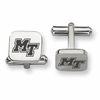 Middle Tennessee State Blue Raiders Stainless Steel Cufflinks