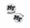 Middle Tennessee State Buccaneers Cufflinks Stainless Steel Round Top