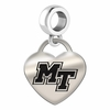 Middle Tennessee State Engraved Heart Dangle Charm