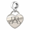 Minnesota Engraved Heart Dangle Charm