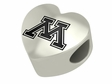 Minnesota Golden Gophers Heart Shape Bead