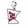 Minnesota Golden Gophers Logo Dangle Charm