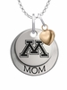 Minnesota Golden Gophers MOM Necklace with Heart Charm