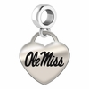 Mississippi Engraved Heart Dangle Charm