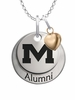 Mississippi Ole Miss Rebels Alumni Necklace with Heart Accent