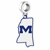 Mississippi Ole Miss Rebels Logo Dangle Charm