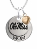 Mississippi Ole Miss Rebels MOM Necklace with Heart Charm