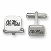 Mississippi Rebels Stainless Steel Cufflinks