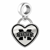 Mississippi State Bulldogs Border Heart Dangle Charm