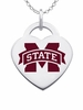 Mississippi State Bulldogs Color Logo Heart Charm