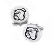 Mississippi State Bulldogs Cufflinks Stainless Steel Round Top
